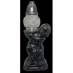 Znicz Anioł porcelana  ZC-A3 czarny